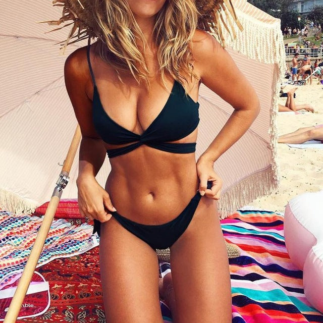 Gorgeous Women Swimsuit Swimwear Push Up Halter