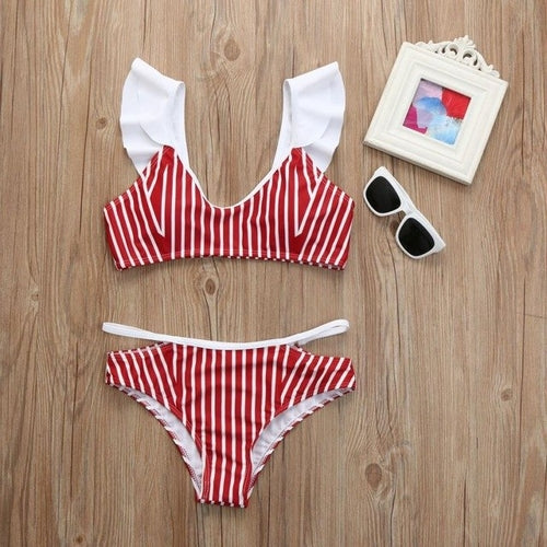 Popular New Women Push-up Padded Striped Printed