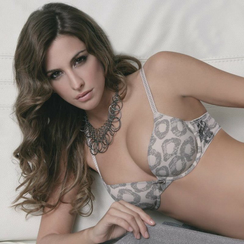 Molded Plunge Animal Print Bra Sassa Mode SM28058