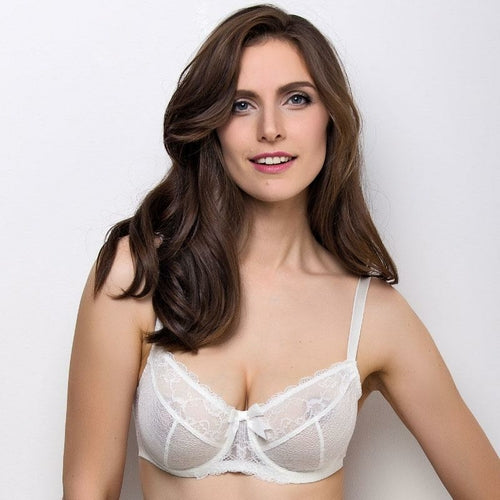 Bridal Full Figure Sheer Lace Bra Lauma Sparkling