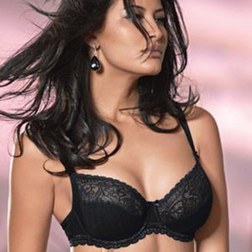 Semi Sheer Lace Full Busted Bra Conturelle Illusion