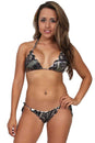 Women's Camo Bikini True Timber Ruffled Swimsuit: GREEN Made in the
