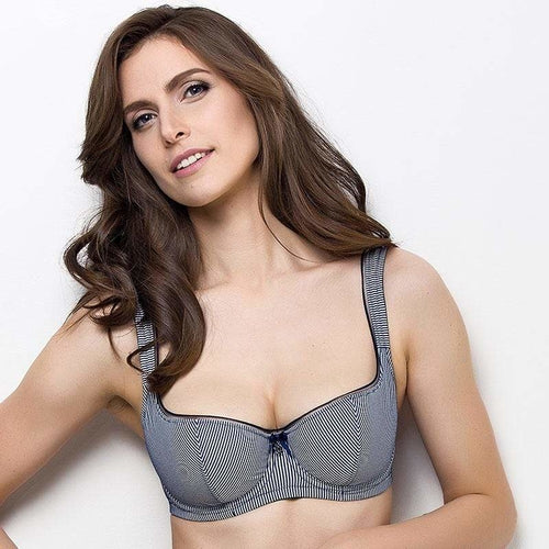 Lightly Padded Balcony Bra Lauma Navy