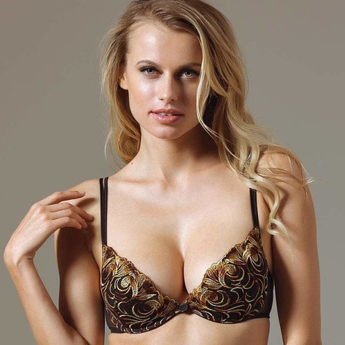 Padded Deep Plunge Bra Lavinia Flame Golden