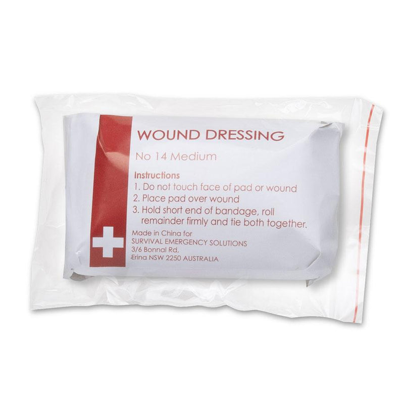 Wound dressings, No 14 medium, sterile