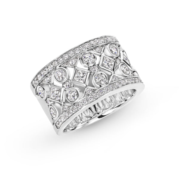 1.72ct Diamond Dress Ring in 18ct White Gold