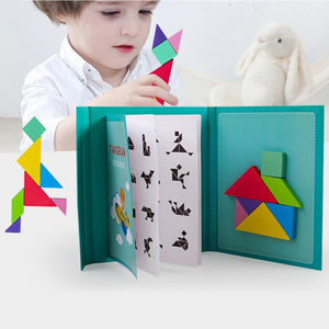 Magnetic 3D  Puzzle Jigsaw Tangram Game Montessori Learning Educational Drawing Board Games Toy Homeschool Gift for Children Brain Tease