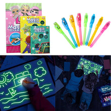 Load image into Gallery viewer, 1PC A4 A5 LED Luminous Drawing Board Graffiti Doodle Drawing Tablet Magic Draw With Light-Fun Fluorescent Pen Homeschool Educational Toy