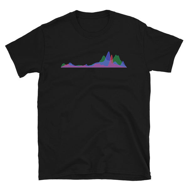 Histogram Mountain Range - Men's Tee