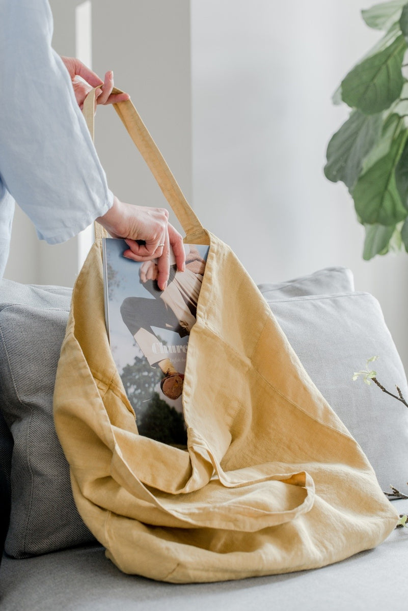 Leinentasche BIG BAG von Linen Tales in der Farbe honey