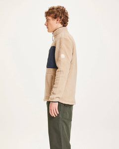 Knowledge Cotton - Fleecejacke ELM - light feather grey
