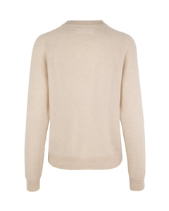 Samsøe Samsøe - Kaschmir-Pullover BOSTON O-NECK - whisper white oder powder pink melange