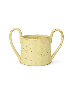 ferm LIVING - Kindertasse FLOW KIDS MUG - yellow speckle