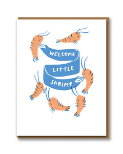 "Klappkarte ""Welcome little shrimp"""
