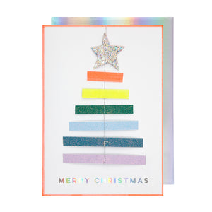 "meri meri ""Christmas Tree Rainbow Card"" mit Deko"