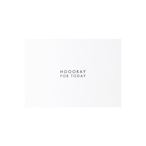 "POSTKARTE - ""Hooray for today"""