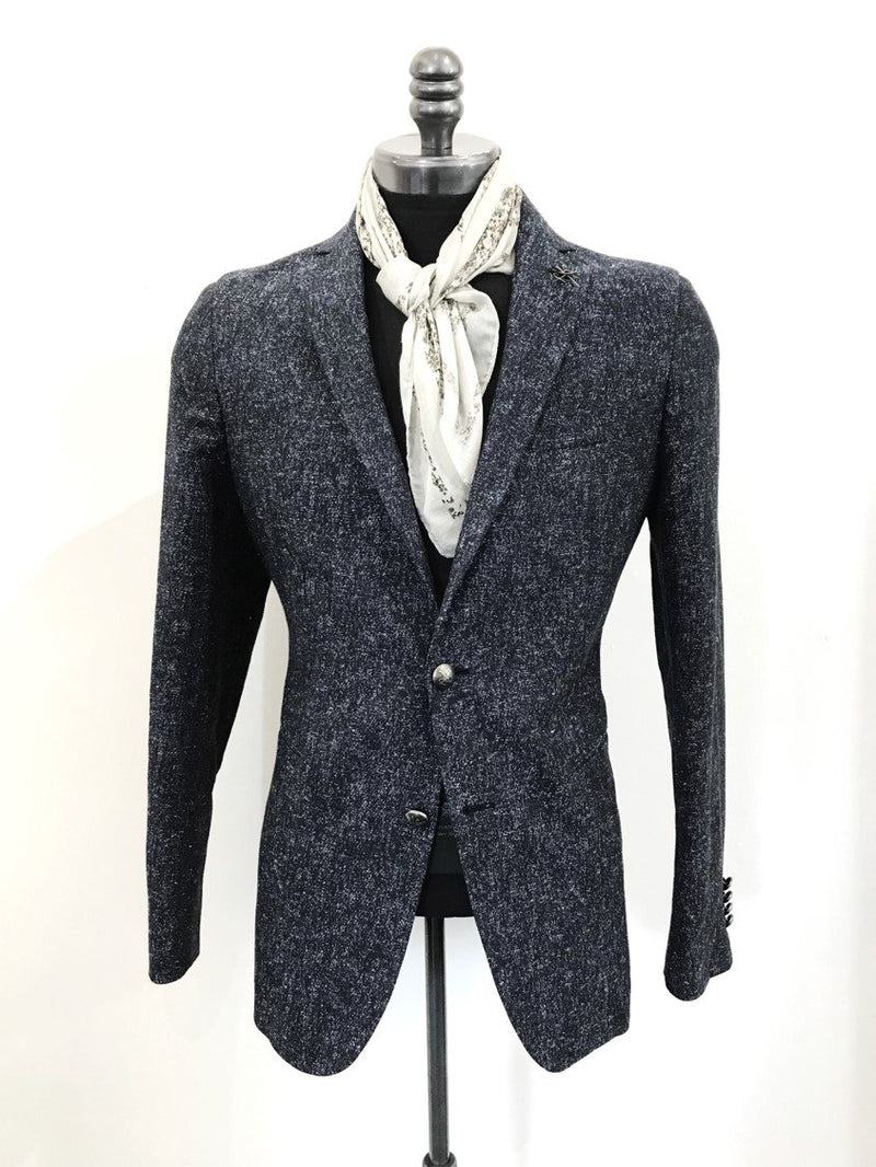 Varick Un-Constructed Notch Lapel Jacquard Tailored Jacket
