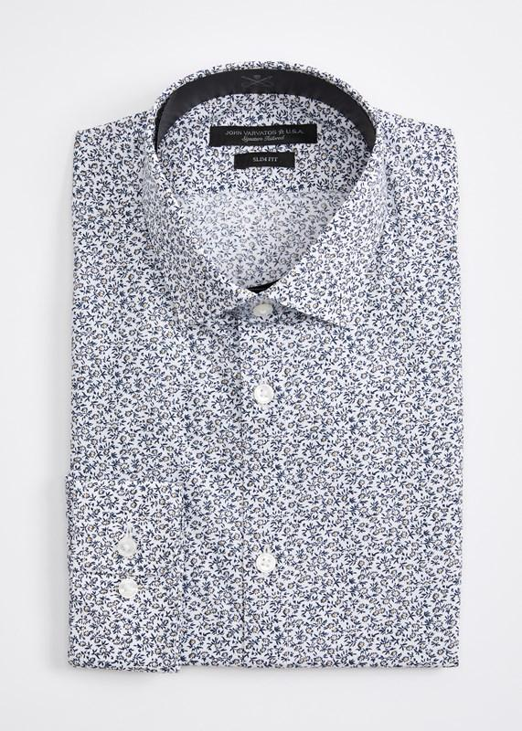 Soh Slim Fit Vine Paisley Dress Shirt