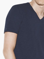 The Short Sleeve Raw Edge V-Neck Tee