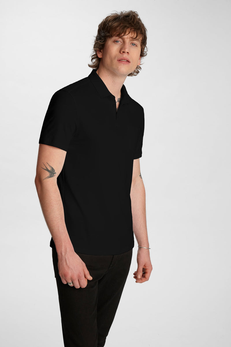 John Varvatos Burlington Interlock Polo