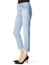 J Brand Ruby High Rise Crop Stovepipe Jeans In Fortuny Destruct