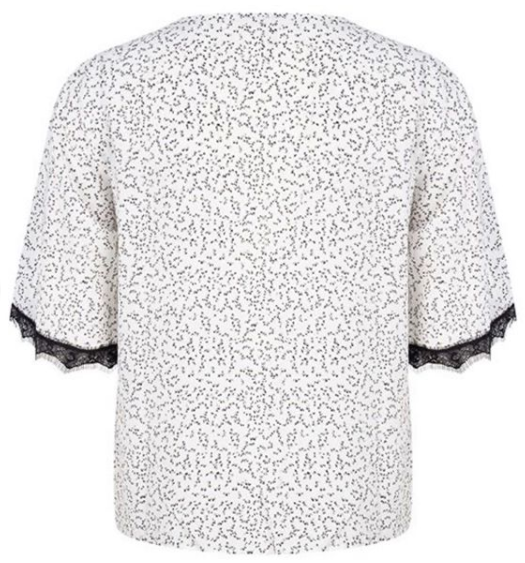 Esqualo Blouse Knot Mini Print
