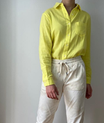 RD Style Neon Yellow Button Down Shirt