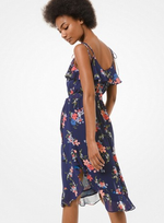 MICHAEL Michael Kors Floral Georgette Ruffled Dress