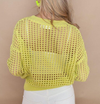 Rd Style Crochet Sunny Lime Knit Sweater