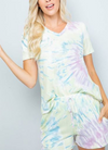 Tie Dye V-Neck Lounge T-Shirt