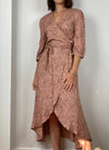 Esqualo Wrap Dress Leopard Print