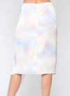 Fate Satin Wrap Midi Skirt