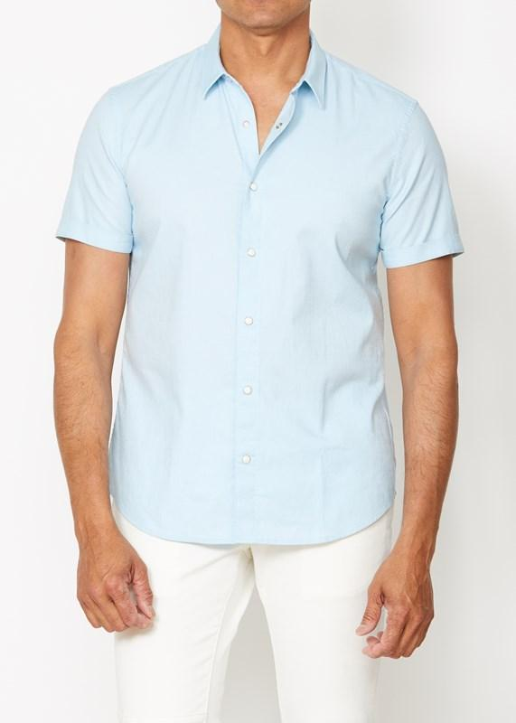 Clark Oxford Short Sleeve Regular Fit Sport Shirt
