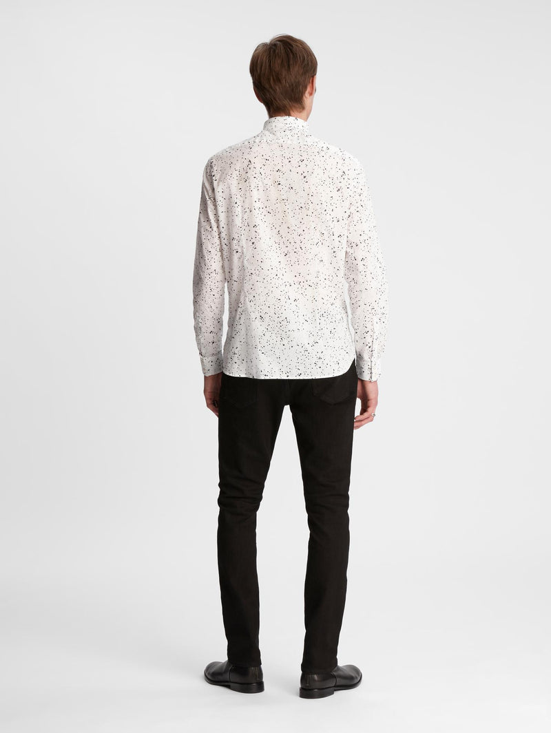 Ross Paint Splatter Long Sleeve Sport Shirt