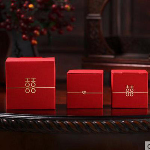 100PCS Double Happiness Gift Boxes for Chinese Wedding - Chinese Wedding