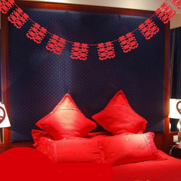 3m Non Woven Fabrics Red Double Happiness Chinese Characters for Chinese Wedding - Chinese Wedding