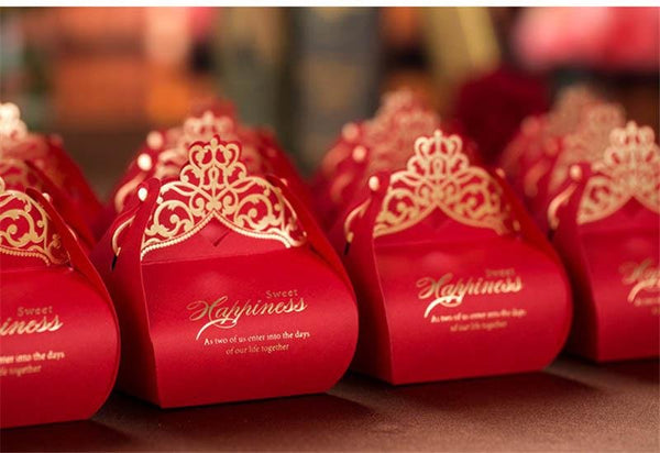 50PCS Romantic Laser Cut Gift Box for Chinese Wedding - CB005 - Chinese Wedding