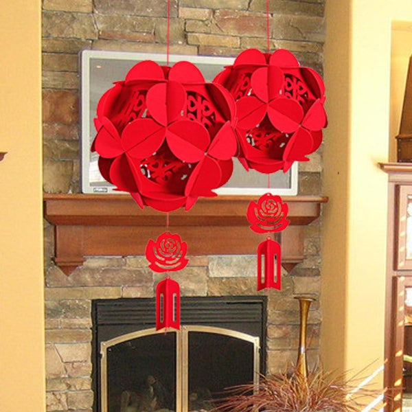 Chinese Character Double Happiness Lantern for Chinese Wedding - P2606 - Chinese Wedding