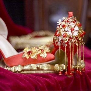 Chinese Wedding Red Bridal Shoes - 1875 - Chinese Wedding