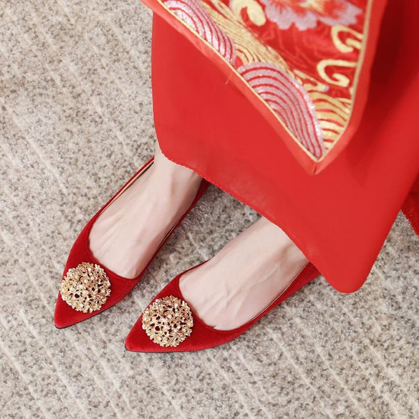 Chinese Wedding Red Bridal Shoes - 2207 - Chinese Wedding