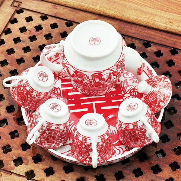 Chinese Wedding Tea Set - Chinese Wedding