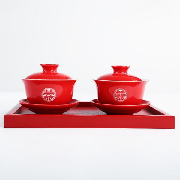 Chinese Wedding Tea Set Ceramic Teaware - Chinese Wedding