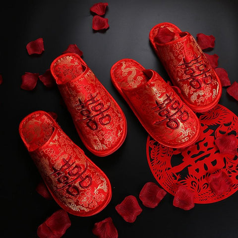 Couple Wedding Home Slippers - ZR128 - Chinese Wedding