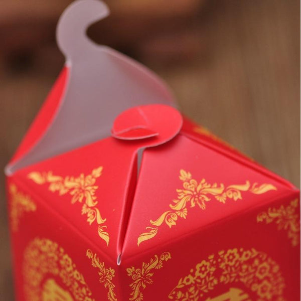 Double Happiness Sedan Chair Chinese Wedding Gift Box.