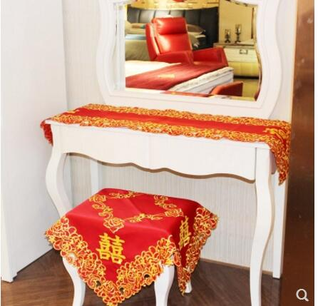 Double Happiness Tablecloth for Chinese Wedding Tea Ceremony Decorations - Chinese Wedding
