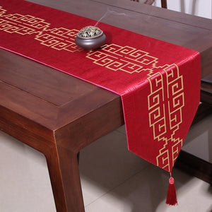 New Luxury Classical Decoration Red Table Runner for Traditional Chinese Wedding - 2527 - Chinese Wedding