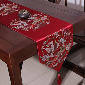 Birds and Flowers Table Runner for Chinese Wedding - Chinese Wedding