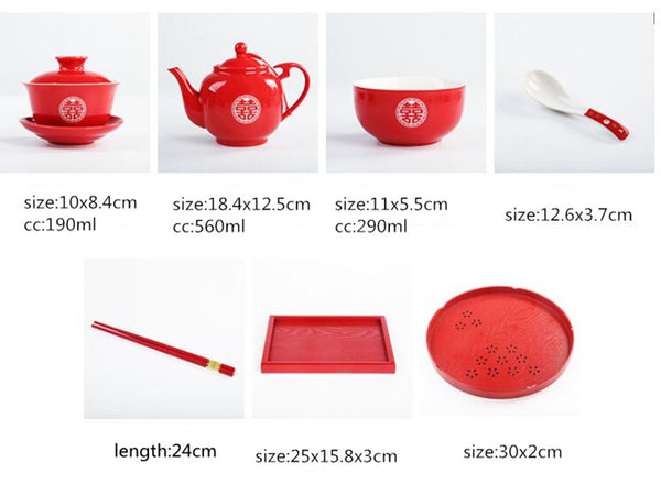 Chinese Wedding Tea Set Ceramic Teaware