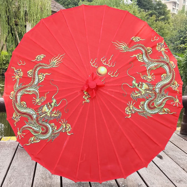 Red Oiled Paper Umbrella for Chinese Wedding