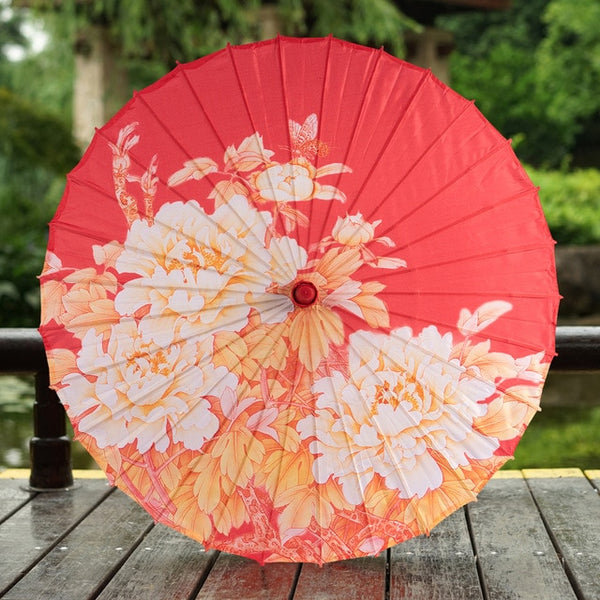 Red Oiled Paper Umbrella for Chinese Wedding - Chinese Wedding